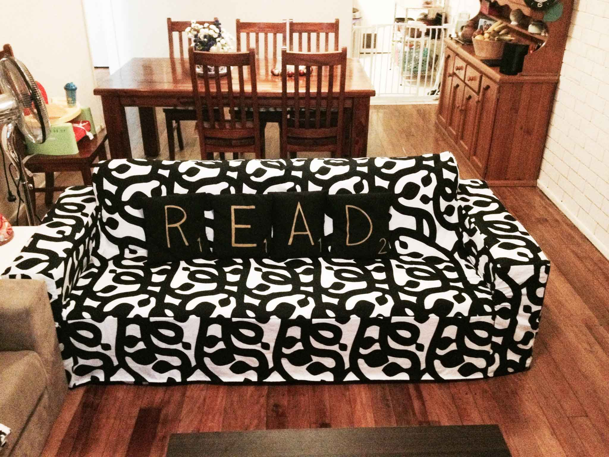 DIY Sofa Slip Cover